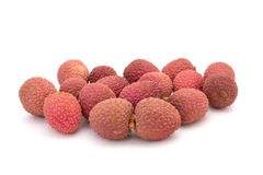 Some lychees. On white background Stock Photography