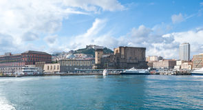 Naples from the sea Stock Images