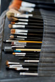 Some makeup brushes. And accessories royalty free stock photos