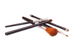 Some makeup brushes. On a white background Stock Photo