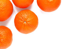 Some mandarin on white Royalty Free Stock Photography