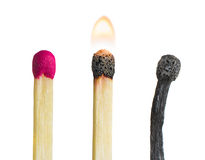 Some matches. On a white background royalty free stock photography