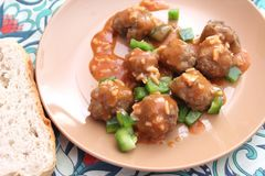 Meatballs with paprika Stock Images