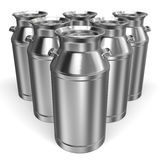 Some Milk Cans Stock Images