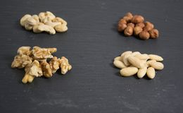 Some mixed nuts. A photo of mixed nuts royalty free stock photo