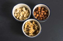 Some mixed nuts. Photo of some mixed nuts stock photography