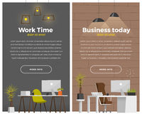 Some modern office style Royalty Free Stock Images