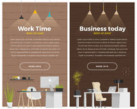 Some modern office style Royalty Free Stock Photos