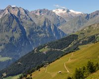 The Großvenediger and other austrian mountains Royalty Free Stock Photography