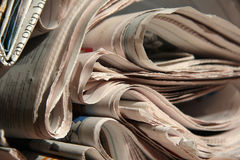 Some newspapers. It is a picture about some newspapers Stock Photo