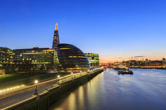 Some nightscape around the Thames River. At London, United Kingdom Stock Photos