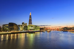 Some nightscape around the Thames River. At London, United Kingdom Royalty Free Stock Image
