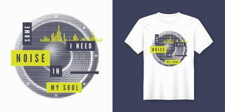 Free Some Noise T-shirt And Apparel Trendy Design With Styled Speaker Stock Photography - 121260752