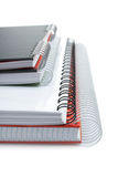 Some notebooks. With soft shadow on white background. Shallow DOF royalty free stock photos