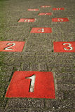 Some numbers. Numbers on the ground in the playground Stock Images