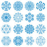 Some Of My Snowflakes Royalty Free Stock Photography