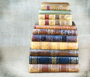Some old books. On canvas background royalty free stock photo