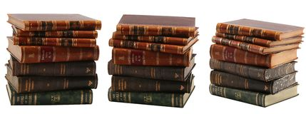 Some old books. Isolated on white background Royalty Free Stock Image