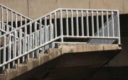Some of the old bridge. Old stairs of the overpass in the city stock photography