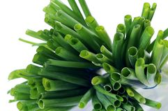 Some onion bunch. Top view of some green onion bunch Stock Photography