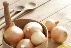 Some onions Royalty Free Stock Photos