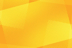 Some orange rectangles abstract retro background. Pop art comic book vector illustration Royalty Free Stock Photos