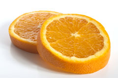 Some orange slices. A couple of orange slices royalty free stock image