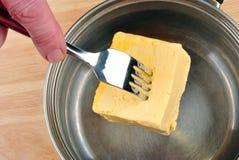 some organic butter to bake a cake Stock Photos