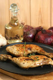 Some organic chicken drumsticks Stock Image