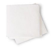 Some Paper Napkins. Isolated On White Background stock photos