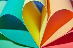 Some paper sheets. Some color paper sheets abstraction royalty free stock photo