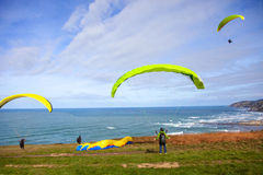 Some paragliders Stock Image