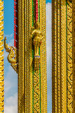 Some parts of Buddha temple Stock Images