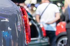 Some parts of the car show in event Royalty Free Stock Image