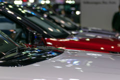 Some parts of the car show in event Stock Photography