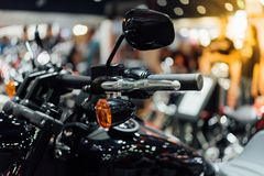 Some parts of the motorcycle in car show event. This a open event no need press credentials required Stock Image