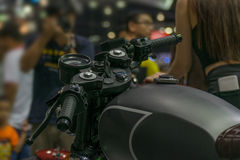 Some parts of the motorcycle in car show event Stock Image