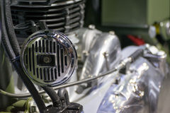 Some parts of the motorcycle in car show event. This a open event no need press credentials required Stock Photography