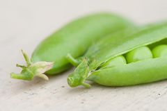 Some pea pods Royalty Free Stock Photography