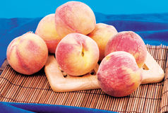 Some peaches. Very fresh and tasty peaches Stock Photo