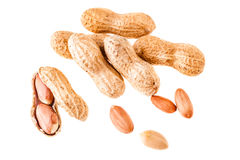 Some peanuts on white Stock Image