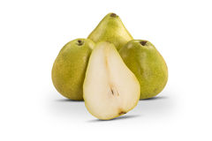 Some pears in a basket over a white background. Stock Image