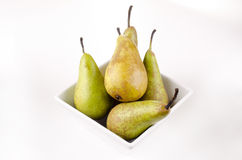 Some pears in a bowl. Some pears in a small bowl Stock Photos