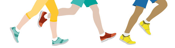 Some People jogging. With white background royalty free illustration