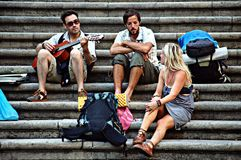 Some people sitting 135 Royalty Free Stock Photography