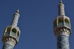 Minarets in Iran stock photo