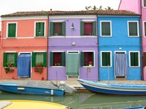 Canal of the Colorful Burano Venice Italy royalty free stock images