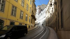 Some picture take in Lisbon. Nearby seaside in Belém district. A typical narrow street for this city Stock Image