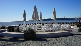 Some picture take in Lisbon. Nearby seaside in Belém district Royalty Free Stock Image