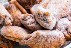 Some pieces of frozen chicken wings Stock Images